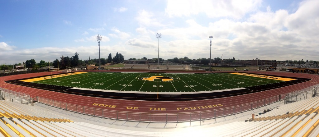 AHS Eels Field panorama 1024x441 Antioch High finishes new $7 million football stadium, debuts Friday night