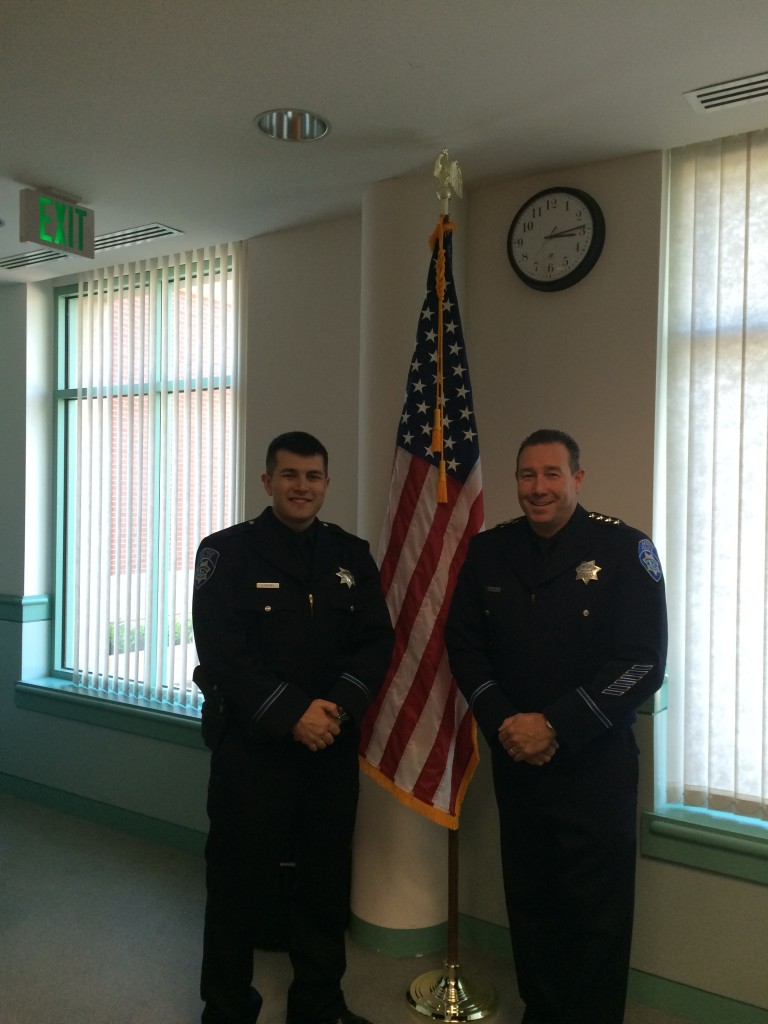 Aaron Hughes Chief Cantando 768x1024 New Antioch police officer sworn in, Monday