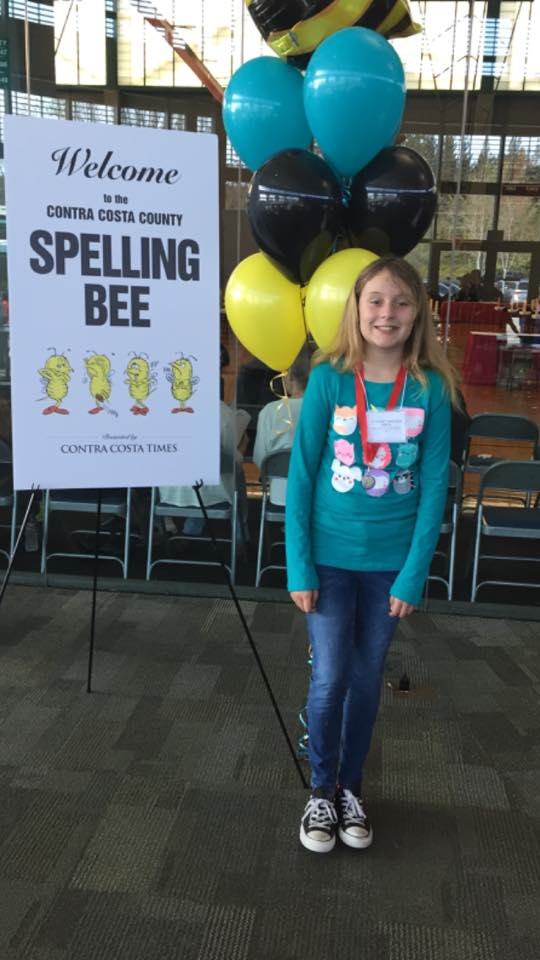 Cassidy Derita at Spelling Bee Antioch students compete at County Spelling Bee