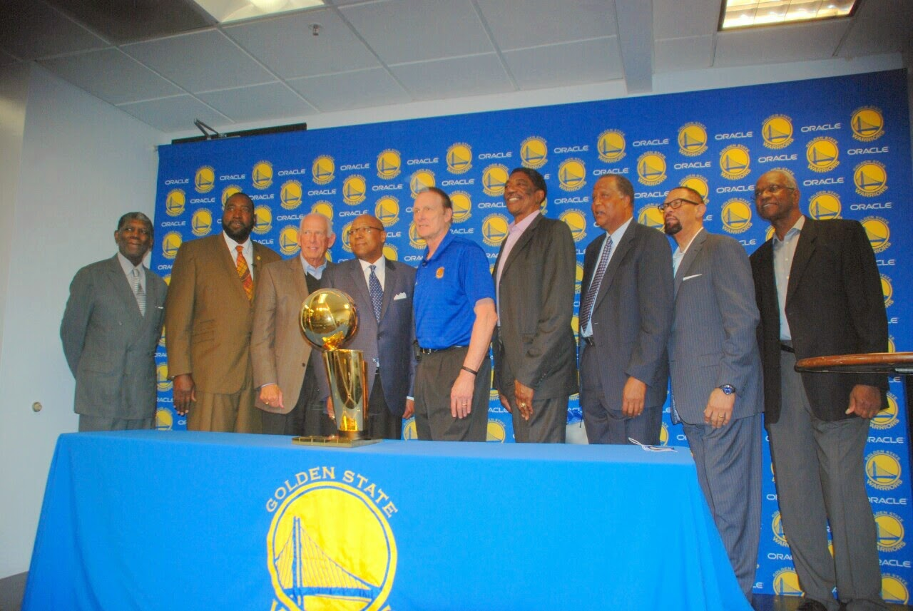 Warriors 74 75 Team photo Warriors celebrate 40th anniversary of NBA Championship, players reunite