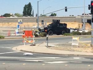 The Antioch SWAT team is on the scene. photo by Luke Johnson