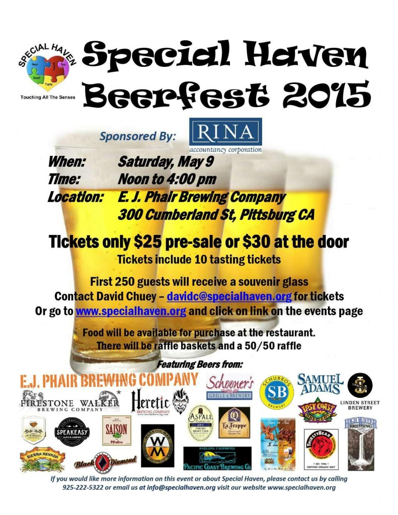 Beer Fest 2015 791x1024 Beer Fest on Saturday to benefit Special Haven in Antioch