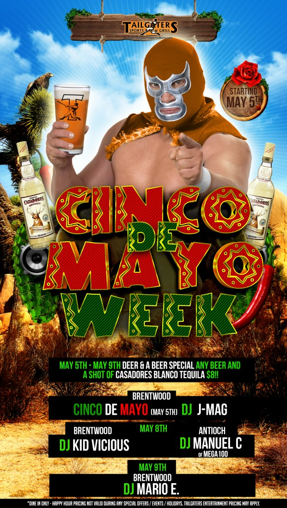 Cinco de Mayo tg 2 580x1024 Enjoy Cinco de Mayo Week at Tailgaters in Antioch and Brentwood