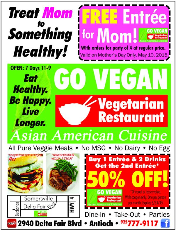 Go Vegan AH Ad 4th 5 15 Enjoy Mothers Day at Go Vegan on Sunday