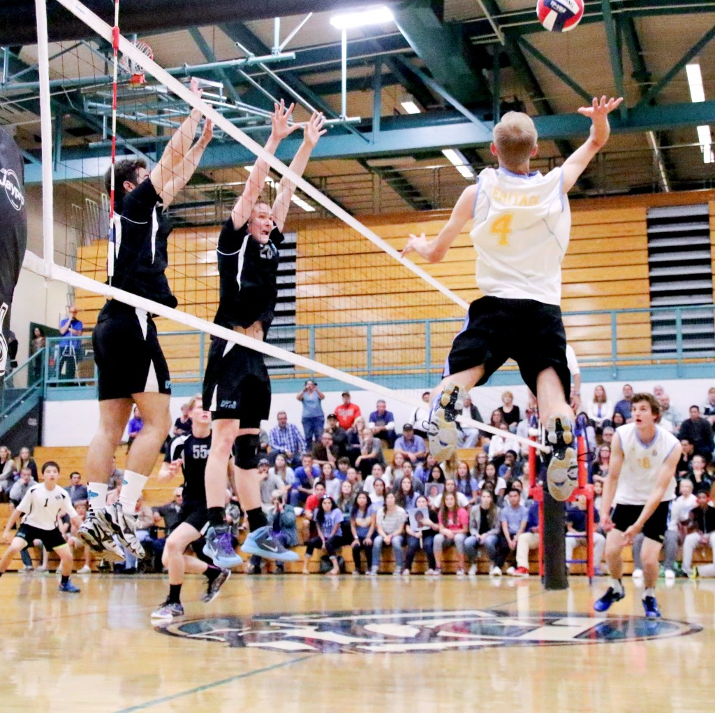 Heritage vs Deer Valley VB 05 15 15 Cathie Lawrence 0152 1024x1020 Deer Valley boys volleyball team stays unbeaten through 118 league matches, wins 9th straight title
