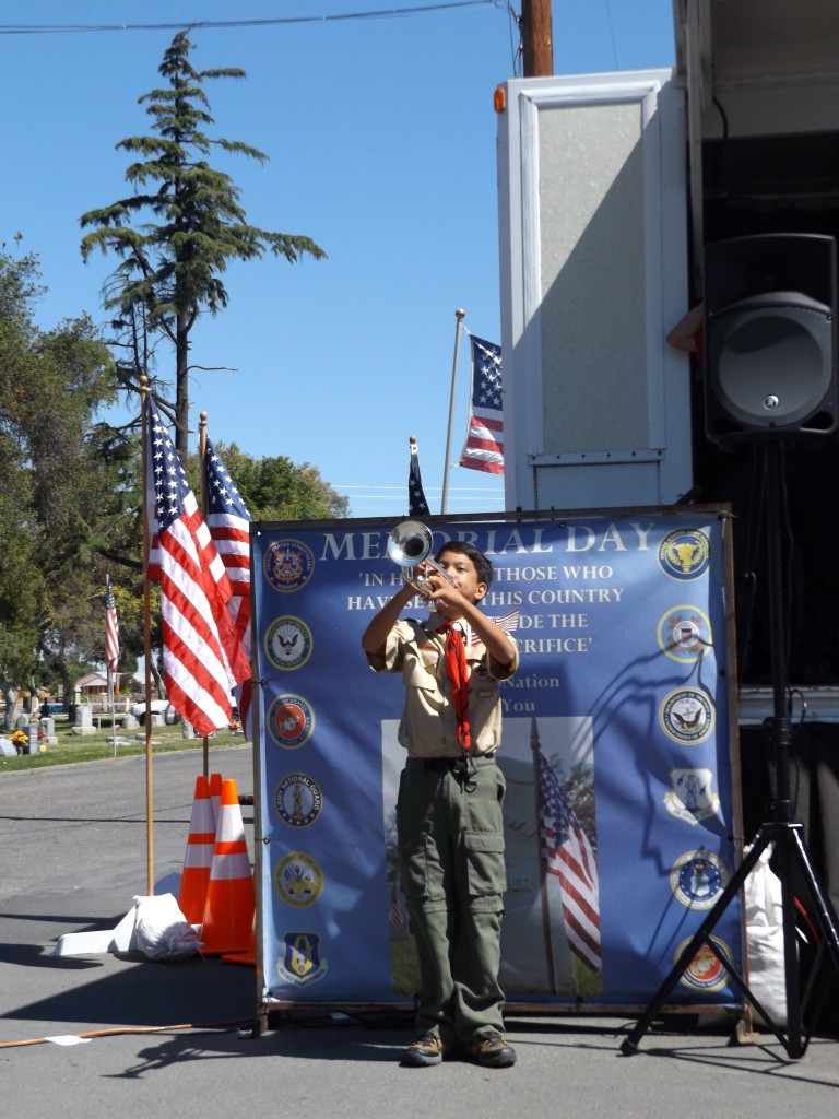 Jean Espinosa plays taps 768x1024 Antioch commemorates Memorial Day at annual ceremony, Monday