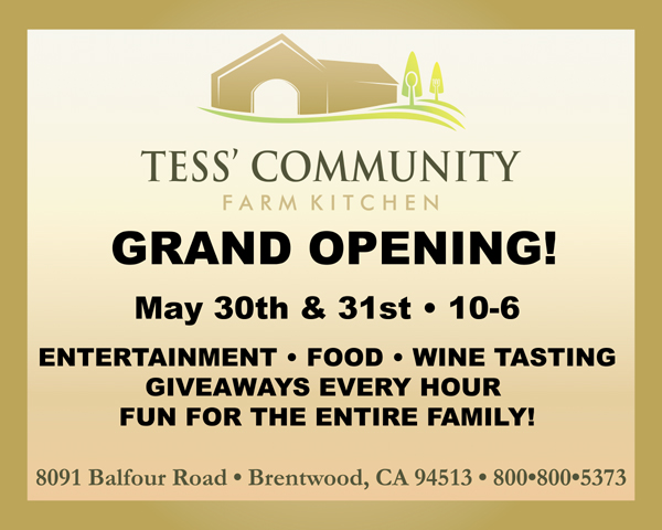 Tess Kitchen G O Grand opening of new farm kitchen in Brentwood, May 30 & 31