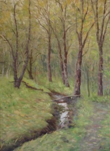 Winter Creek by Mark Roberts 220x300 Artists Open Studios in Antioch and East County, May 16 and 17