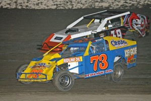 060615AntiochSpeedway02 300x200 Antioch Motor Speedway: Arriaga snatches win from McCarthy in Winged 360 Sprint Car feature; veteran driver Busby battles young Kyle Wilson for IMCA Modified win