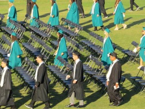 DVHS graduates flie in photo by Lori Cardera 300x225 Deer Valley High graduates over 600, speakers say school is misrepresented