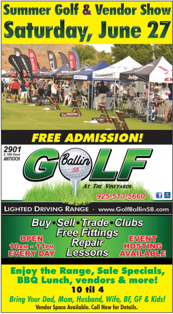 Golfballin website ad 565x1024 Free Summer Golf and Vendor Show at Antioch driving range, June 27