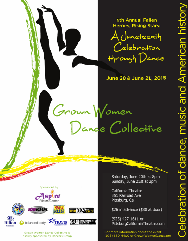 Juneteenth Dance performance to celebrate Juneteenth, tonight, Sunday afternoon in Pittsburg