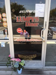 "Flowers were placed in front of the door which bore a sign saying ""closed until further notice"" at Lumpy's Antioch location, Tuesday afternoon."