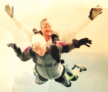 Skydiving in Byron at 95 Antioch's own centenarian, Crenna Boyd is 105
