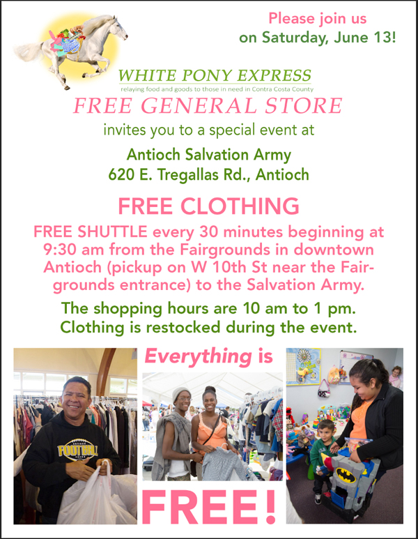 white pony flier english Salvation Army to host Antioch Care & Share Faire on Saturday, June 13