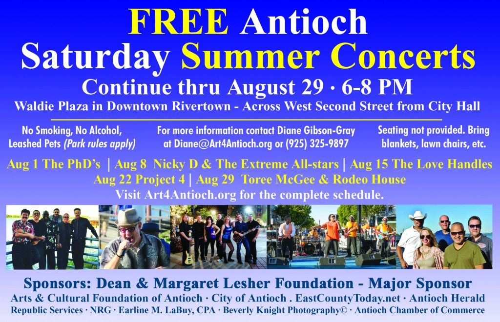 Free Summer Concerts ad 08 15 1024x660 Free Antioch Summer Concerts continue Saturday nights in August