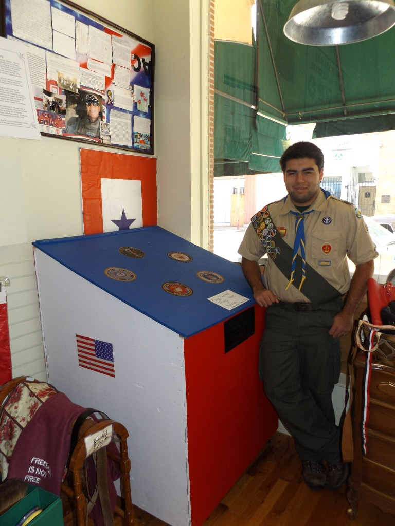 Sean Shinn Eagle Scout project 768x1024 Friendship leads to Eagle Scout project of creating a box for properly retiring American flags