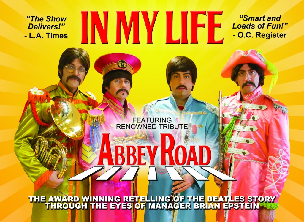 In My Life Web Ad 1024x747 Award winning musical biography of Beatles comes to Walnut Creeks Lesher Center, September 13