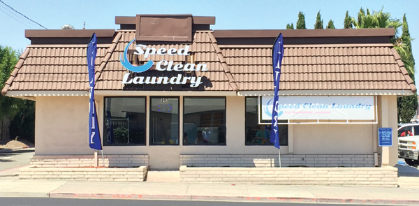 Speed Clean Laundry is located on East 18th Street in the former Kentucky Fried Chicken building across from Pinky's car wash.