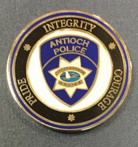 APD Challenge Coin given to each of the academy graduates.