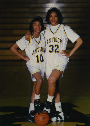 Courtney and Keisha Johnson played basketball and more for Antioch High.