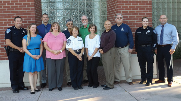 Antioch Police Department's first Citizens Academy graduates with Chief Allan Cantando, left. (From left to right)