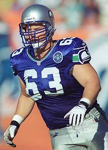 Frank Beede played offensive lineman for the Seattle Seahawks.