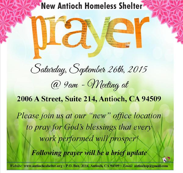 Prayer Meeting for new shelter