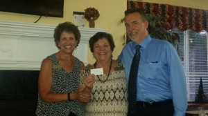 Sharon Pappas and Mary Chapman with $250 prize winner, Jack Monroe.
