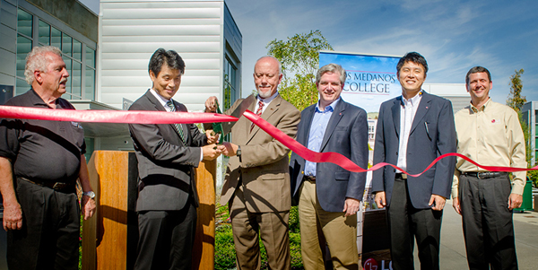 Left to right: Len Price, LMC Appliance Service Technology Chair and Faculty; Kyumoon Yu, LGEAI President; Bob Kratochvil, LMC President; Michael Kozlowski, Director, Field Service & Strategy; Jae Park, Senior Manager, Human Resources; and James Chalut, Senior Manager, Technical Information Services.