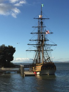 The Lady Washington docked near the former Humphrey's restaurant in Antioch, on Saturday, Oct. 17, 2015.