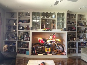 Rodney Smith's trophy case in his home in Antioch - from his Facebook page.