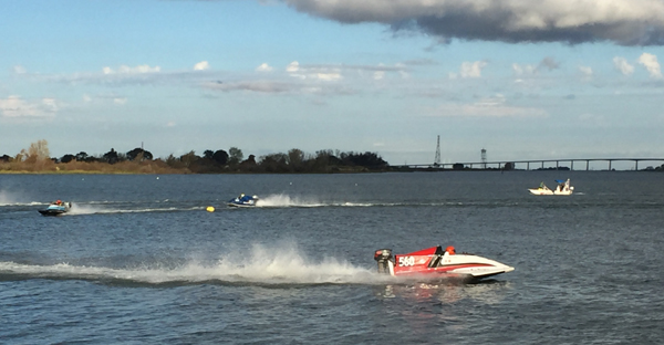 Delta Thunder speed boat races on the river, in Antioch, Saturday, October 17, 2015