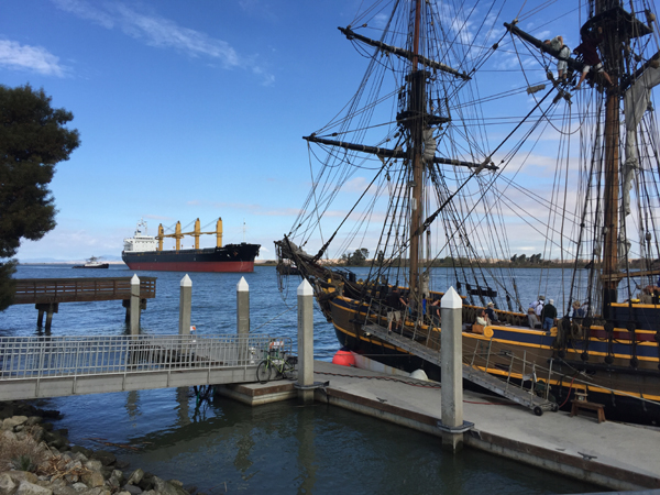 The Delta Thunder VI speed boat races were delayed until a tanker was turned around near the tall ship Lady Washington, on Sunday, October 18.