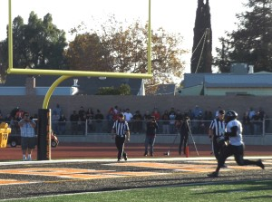 #11 Duwon Boyd runs it in for a 2-point conversion.