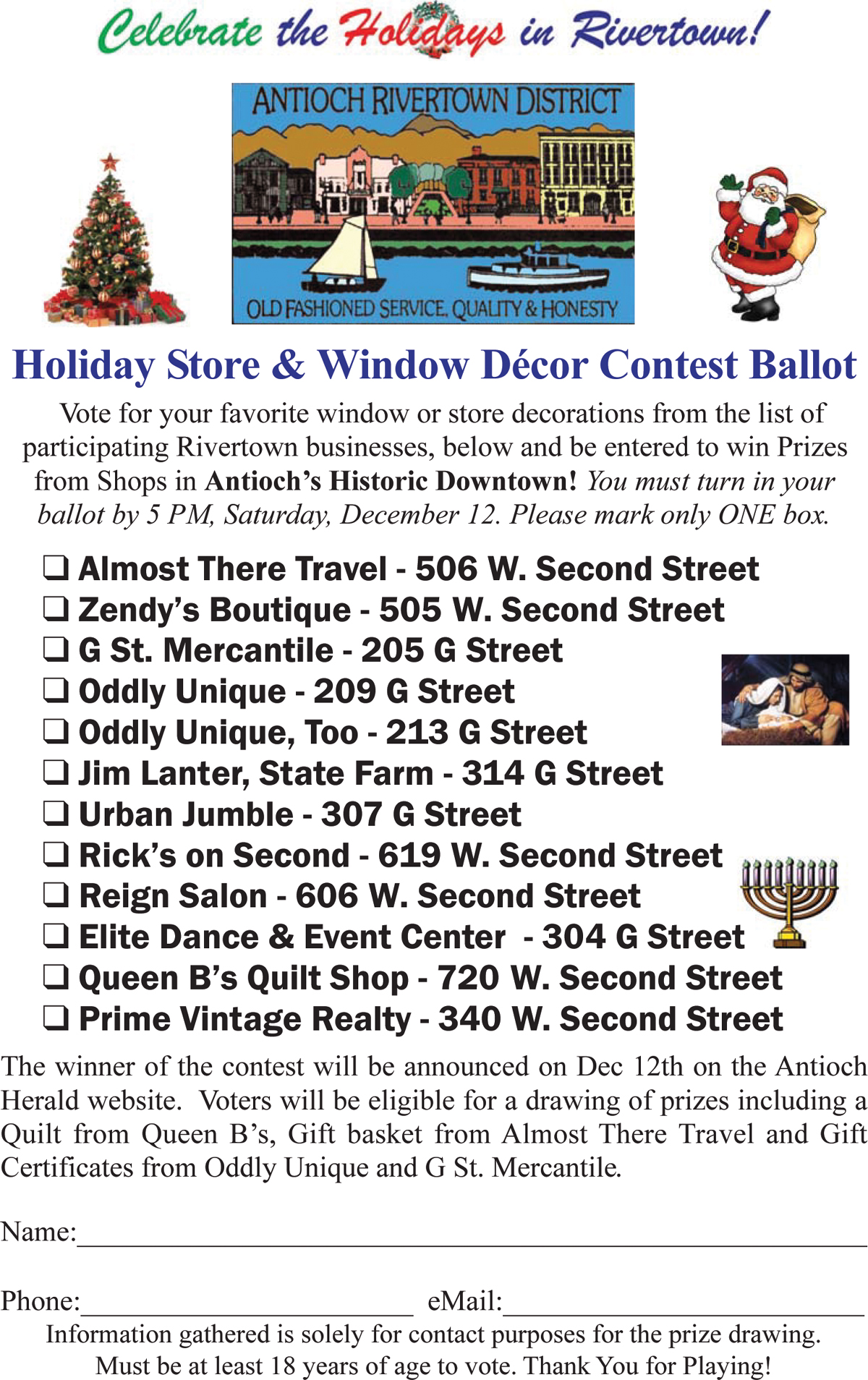 2015 Holiday Window Decor Contest Ballot web