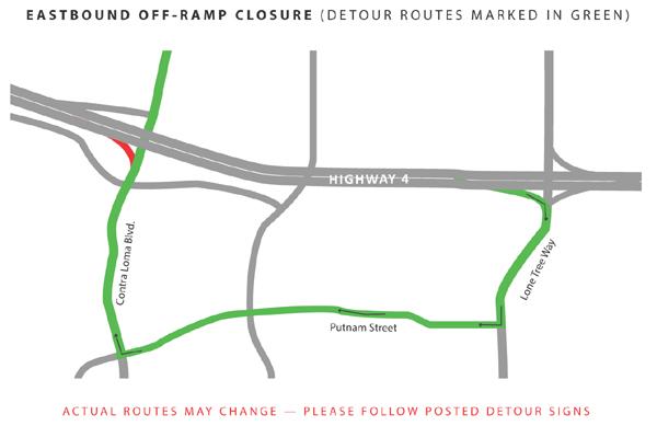 A - Eastbound Off-Ramp Closure