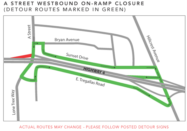 B - A Street Westbound