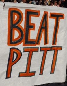 Beat Pitt sign on the Antioch side.