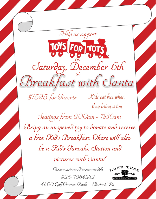 Breakfast with Santa 2015 Flyer