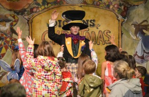 The Mad Hatter's in charge at 'Teatime with Alice & Friends', daily on the Father Christmas Stage at the Great Dickens Christmas Fair.