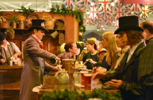 Four authentic English pubs and the Bohemian Absinthe Bar serve up fine glasses of Christmas cheer at the Great Dickens Christmas Fair & Victorian Holiday Party.