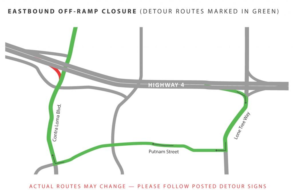 Eastbound Off-Ramp Contra Loma Nov14-20
