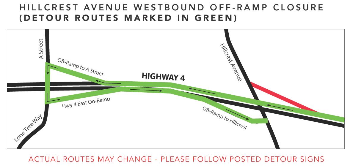 Hillcrest Ave Westbound Off-Ramp Nov14-20