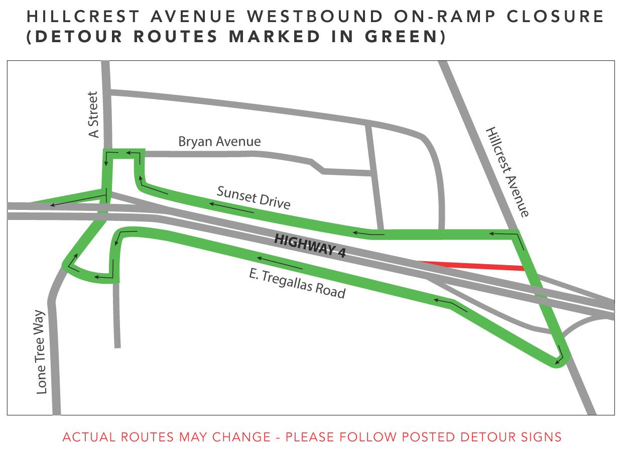 Hillcrest Ave Westbound On-Ramp Nov14-20