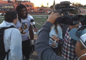 Najee Harris interviewed after the game.