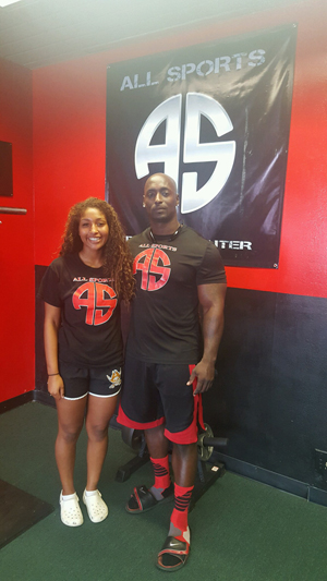 Niaja Nolan with Trainer Will Stalling at All Sports Training Center in Antioch.