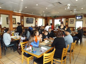 Rincon Cafe customers enjoy breakfast on Saturday morning, November 21, 2015.