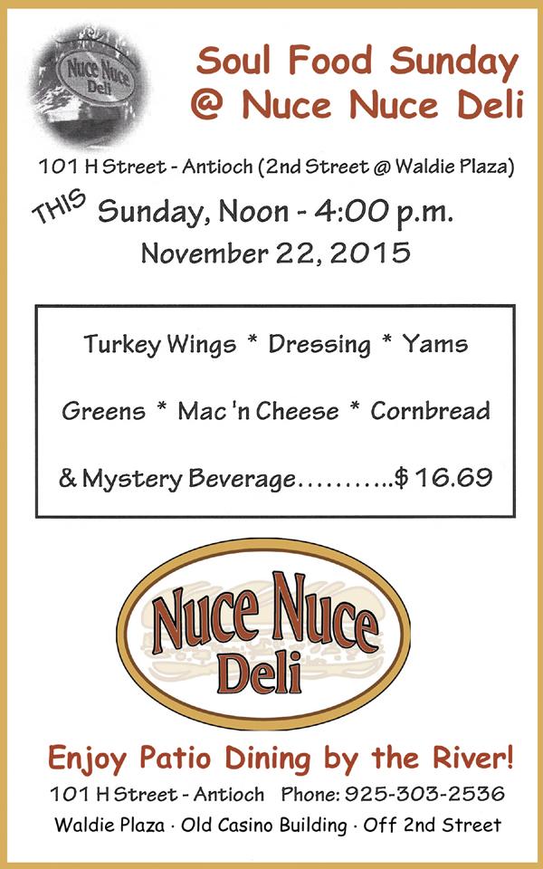 Soul Food Sunday at Nuce Nuce Deli