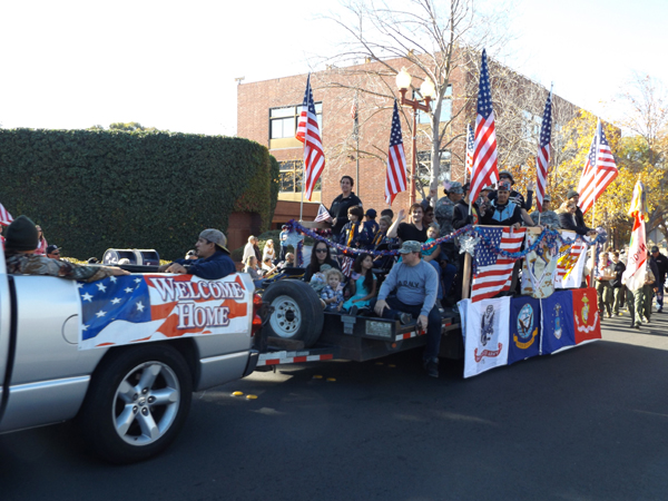 "Veterans were given a ""Welcome Home"" during Antioch's Veterans Day Ceremonies and Parade on Wednesday, November 11, 2015"
